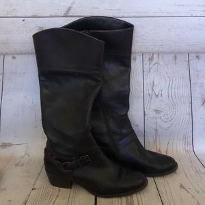 Vince Camuto Brunah Brown Tall Riding Boots
